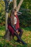 Portait do outono, menina bonita Imagem de Stock Royalty Free