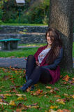Portait do outono, menina bonita Foto de Stock Royalty Free