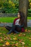 Portait do outono, menina bonita Fotografia de Stock Royalty Free