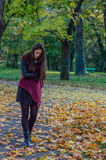Portait do outono, menina bonita Imagens de Stock Royalty Free