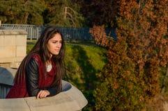 Portait do outono, menina bonita Fotografia de Stock