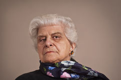 Portait of an elderly lady. Royalty Free Stock Photography