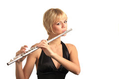 Portait of a flautist Stock Photo