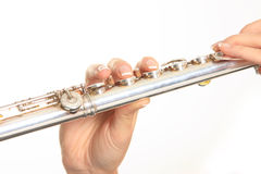 Portait of a flautist Stock Images