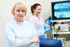 Portait gastrointestinale di medico di endoscopia fotografie stock libere da diritti