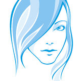 Portait of a girl. Portrait of young pretty girl Royalty Free Stock Images