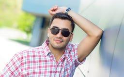 Portait of gorgeous turkish man Stock Photos