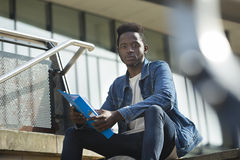 Portait of male student Royalty Free Stock Images
