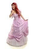 Portait Piękna młoda kobieta w Princess custume obrazy royalty free