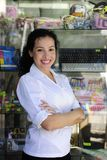 Portait of a retail store owner. Small business: portait of a proud and confident retail store owner stock image