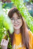Portait teenager di vetro svegli asiatici Immagine Stock