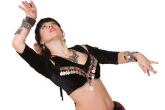 Portait of trible belly dancer. Royalty Free Stock Photo