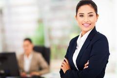 Uśmiechnięta biznesowa kobieta Zdjęcia Royalty Free