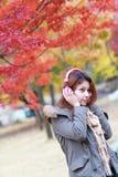 Portait woman on Nami island in Korea. Stock Photography