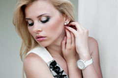 Portait women with make up Royalty Free Stock Photo