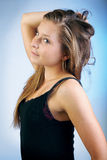 Portait young blonde girl Royalty Free Stock Photography