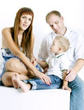 Portait of young family Royalty Free Stock Photography