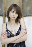 Portait of young skinny  woman Stock Photo