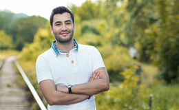 Portait of a young smile man Royalty Free Stock Photo