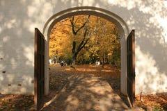 A portal. Moscow, Kolomenskoye. The gates. Autumn 2008 Stock Photography