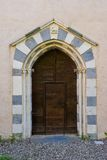 Portal of the ancient Church called Badia di Tiglieto Royalty Free Stock Image