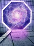 Portal in another dimension. Portal into the cosmic nebula royalty free stock images