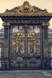 Portal architecture in Paris. Gate of the Palais de Justice in Paris which is the house of the French Supreme Court stock photography