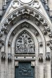Portal of ascension of Christ to heaven. On the cathedral of st. Vitus in Prague Stock Photography