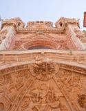 Portal of the Astorga cathedral Stock Photos