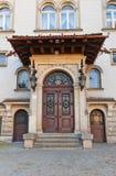 Portal av befordrankontoret (XX c ) av det Lodz universitetet av Technol Royaltyfri Fotografi