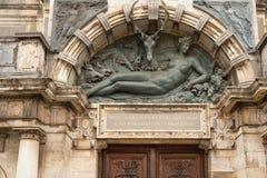 Portal av den medeltida slotten Fotografering för Bildbyråer