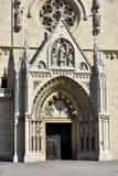 Portal av den Zagreb domkyrkan Fotografering för Bildbyråer