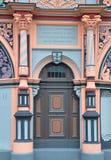 Portal av det Cranach huset i Weimar Royaltyfri Bild