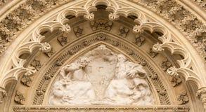Portal av domkyrkan Arkivfoto