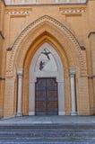 Portal av domkyrkan av St Stanislaus Kostka (1912) i Lodz Arkivbilder