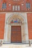Portal av kyrkan av San Marco i Milan, Italien Royaltyfria Bilder