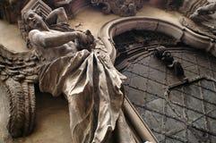 Portal barroco de la iglesia Fotos de archivo libres de regalías