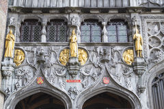 The portal of the Basilica of holy blod.BRUGES, BELGIUM Stock Photo