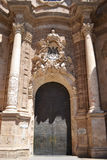 Portal of the Basilica of Valencia - spain Royalty Free Stock Photography