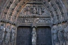 Portal Biała dama, katedralny Leon, Hiszpania Obraz Royalty Free