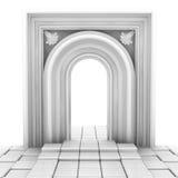 Portal branco Foto de Stock