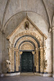 Portal of Cathedral of St. Lawrence in Trogir, Croatia, front view Royalty Free Stock Photos