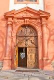 Portal of Church the Assumption of Mary in Stara Boleslav Royalty Free Stock Photography