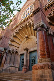 Portal of Church of Hospital de Sant Pau in Barcelona. In Spain. In English it is called as Hospital of the Holy Cross and Saint Paul. It used to be a hospital Royalty Free Stock Photography