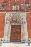 Portal of Church of San Marco in Milan, Italy Royalty Free Stock Images