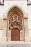 Portal of Church of St. Mark (XIII c.). Croatia Royalty Free Stock Image