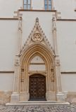 Portal of Church of St. Mark (XIII c.). Croatia Royalty Free Stock Photos