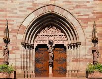 Portal of the church of St. Peter and Paul in obernai Royalty Free Stock Image