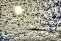 Portal. The clouds looked as though they were circling the sun opening a portal Royalty Free Stock Photo
