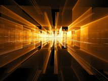 Portal con las paredes de cristal - imagen digital generada del extracto imagenes de archivo